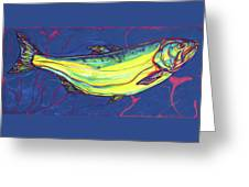 Salmon Of Knowledge Greeting Card