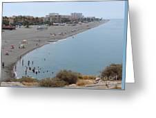 Salobrena Beach Greeting Card