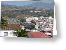 Salobrena Town View Greeting Card