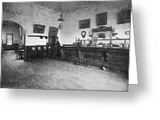 Saloon C. 1890 Greeting Card