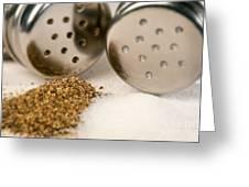 Salt And Pepper Shaker Spilled Greeting Card