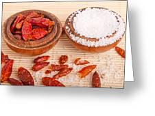 Salt And Piri Piri Greeting Card