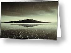 Salt Cloud Reflection Black And White Vintage Greeting Card