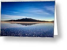 Salt Cloud Reflection Framed Greeting Card