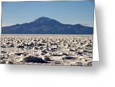 Salt Flat Surface Greeting Card