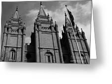Salt Lake City Lds Temple 3 Greeting Card