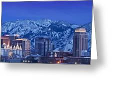 Salt Lake City Skyline Greeting Card by Brian Jannsen