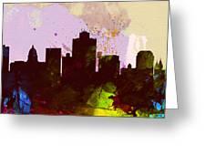 Salt Lake City Skyline Greeting Card