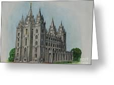 Salt Lake City Temple I Greeting Card