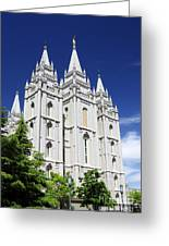 Salt Lake Mormon Temple Greeting Card
