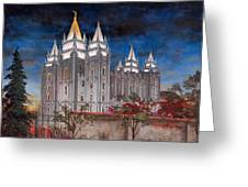 Salt Lake Temple Greeting Card by Jeff Brimley