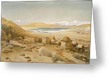 Salt Lake - Thibet, From India Ancient Greeting Card