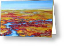 Salt Marsh In Early Autumn Greeting Card