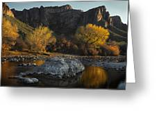 Salt River Fall Foliage Greeting Card by Dave Dilli