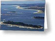Salter, Stage And Pond Islands At The Greeting Card