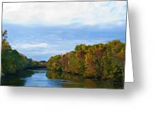 Saluda River In The Fall Greeting Card