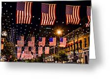 Salute To Old Glory Greeting Card by Teri Virbickis