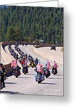 Salute To Veterans Rally Greeting Card
