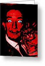 Salvador Dali And Friend 20130212v2 Greeting Card by Wingsdomain Art and Photography