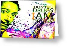 Salvador Dali Pop Art Greeting Card