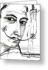Salvador Dali  Greeting Card