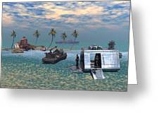 Salvage Operation Greeting Card