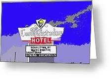 Salvage Sale Sign El Conquistador Hotel Tucson Arizona 1968-2011 Greeting Card