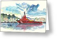 Salvage Ship In Cartagena Greeting Card