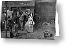 Salvation Army In Slums Greeting Card by Granger
