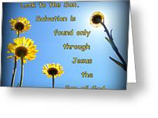 Salvation In The Son Greeting Card