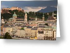 Salzburg After The Storm Greeting Card