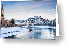 Salzburg Winter Fairy Tale Greeting Card