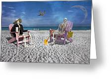 Sam And His Friend Visit Long Boat Key Greeting Card