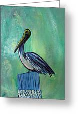 Sam The Pelican Greeting Card