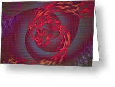 Samba Dancer Abstract Digital Painting Greeting Card
