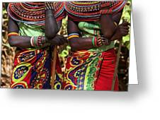 Samburu Women Dancing Kenya Greeting Card