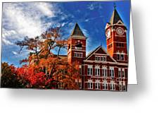 Samford Hall In The Fall Greeting Card by Victoria Lawrence