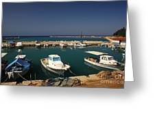 Sami Harbour Kefalonia Greeting Card