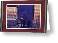 Sample Example Sunset On Ground Zero Greeting Card