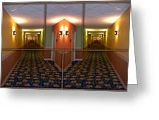 Sample Paneled Hallway Mirrored Image Greeting Card