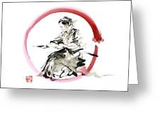 Samurai Enso Bushido Way. Greeting Card