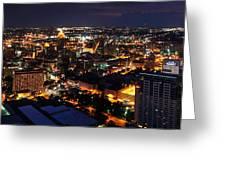 San Antonio - High Above San Antonio Greeting Card