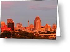 San Antonio - Skyline At Last Light Greeting Card