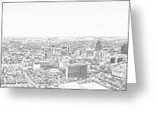 San Antonio Downtown Lineart Greeting Card