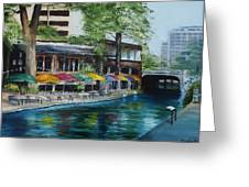 San Antonio Riverwalk Cafe Greeting Card