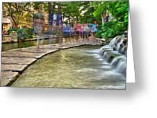 San Antonio Riverwalk Slomo Greeting Card