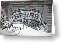 San Antonio Spurs Greeting Card by Joe Hamilton