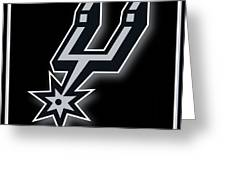 San Antonio Spurs Greeting Card by Tony Rubino