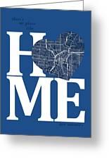 San Antonio Street Map Home Heart - San Antonio Texas Road Map I Greeting Card