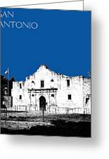 San Antonio The Alamo - Royal Blue Greeting Card